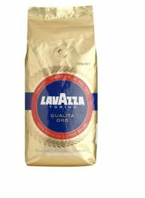 2x Lavazza Qualita Oro Coffee Beans 500g Cafe Quality Coffee