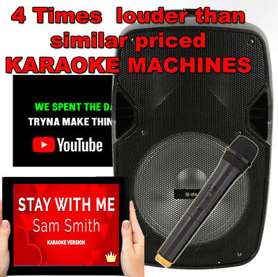 Starsinger Karaoke Machine Bluetooth BGMX09  with twin wireless microphones