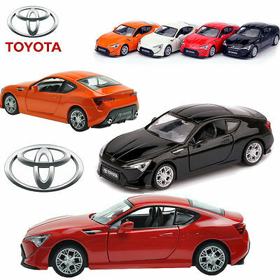 1:32 Toyota FT-86 Diecast Model Car Kids Metal Pull Back Vehicle LED & Sound Toy