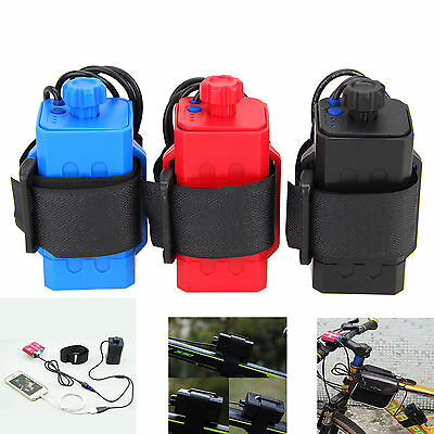 4 x 18650 Water Resistant Battery Pack Case House Cover For Bike Bicycle Lamp