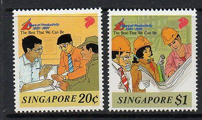 Singapore Sg667/8 1991 Productivity Monument Mnh