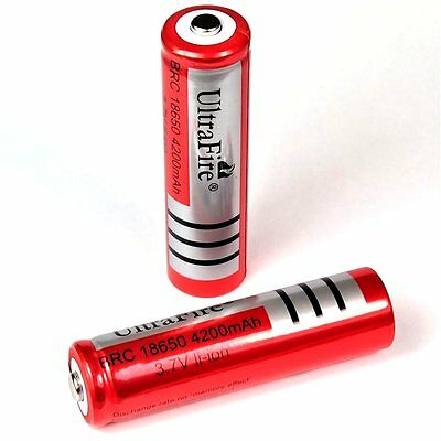 10 x Ultra Fire 4200 mAh Lithium Ionen Akku 3,7 V von BRC Typ 18650 battery pack