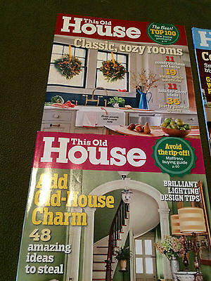 Lot 10 This Old House Magazine November 2015 - October 2016 1 Year Back Issues