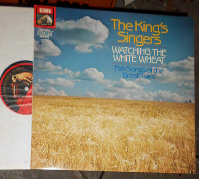 The King's Singers Watching The White Wheat- Folk Songs Of The British Isles Lp