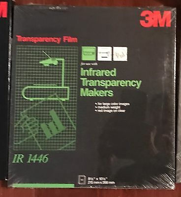 NEW 3M Transparency IR 1446 50 Sheets 8 1/2 x 10 1/2 Infrared Red