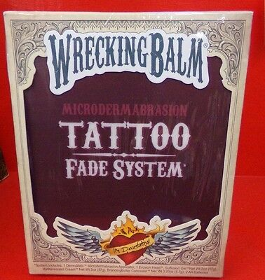 Doc Wilson's Wrecking Balm Microdermabrasion Tattoo Removal Fade System Kit NEW