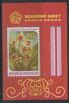 Indonesia Sgms1522 1978 Orchids Mnh