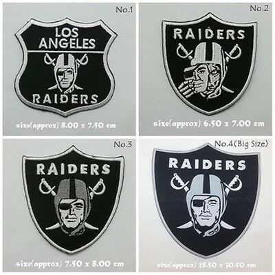 NFL Oakland Raiders Patch Sew On Iron Embroidered Badge Logo Free Shipping Badge