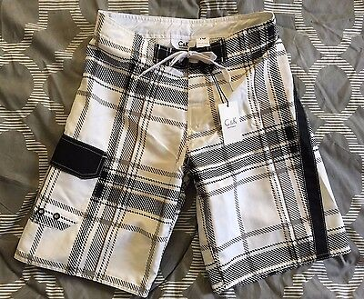 NEW C & K Board Shorts Swim Trunks Boys SZ 8, 10, 12,14 Plaid - Retail $9.95 NWT