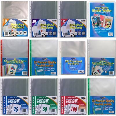 *OFFER* Tiger Stationery Clear Plastic Wallet Filing Poly Pockets - FULL RANGE!