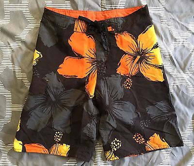 NEW C & K Board Shorts Swim Trunks Boys SZ 8, 10,12 Orange BLK NWT Retail $9.95