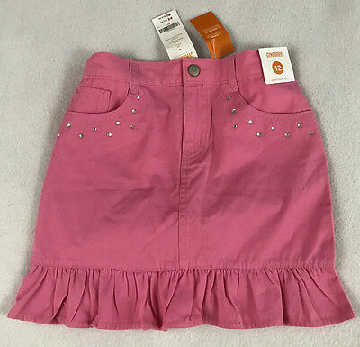 NWT Gymboree Butterfly Blossoms Girls 12 Pink Skirt Rhinestones Sparkle Ruffled