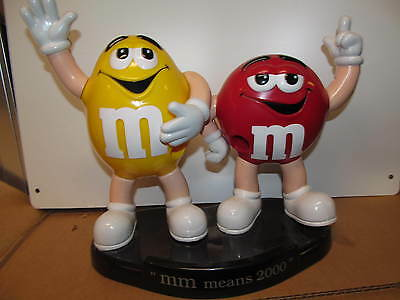M&M's Mars Rare Red and Yellow M&M's Duo Dispenser 2000