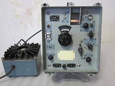 Russian military R-326 Receiver with Power Supply.  USSR .