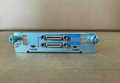 Cisco HWIC-2T (2-Port Serial High-Speed WAN Interface Card) CCNA CCNP CCIE