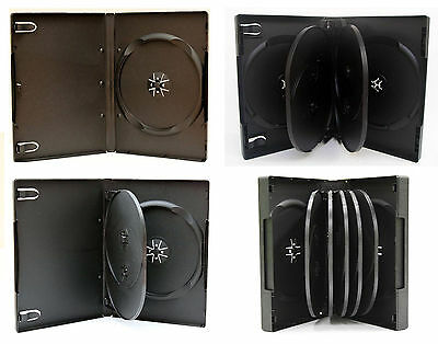 Pack ESTUCHES DVD para 1 / 2 / 3 / 4 / 6 / 8 / 10 / 12 discos - NEGRO - CAJA CD