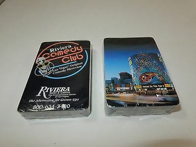 Riviera Hotel & Casino Comedy Club Playing Cards Las Vegas 2 Decks SEALED