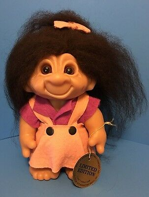 "Limited Edition Girl 9"" Thomas Dam Troll Doll - With Original Tag - Rare"