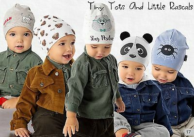 Baby Boy Infant Toddler Cotton Elastic Spring Autumn Hat Beanie 3 mths - 2 years