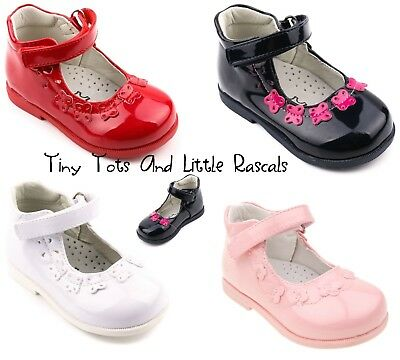 Toddler Girls Patent Shoes Sandals Leather Insole Occasion Party Size UK 3 - 7