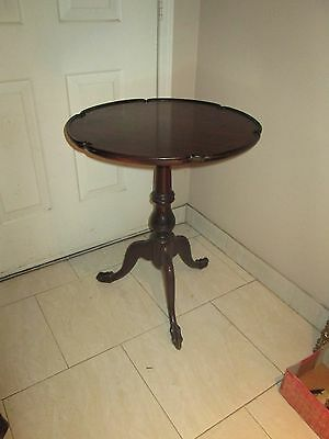 Chippendale-Style Carved Mahogany  Tea Table - Mid Century