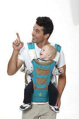#1 BABY CARRIER with HIP SEAT 5 Carrying Positions, Front, Backpack and Kangaroo