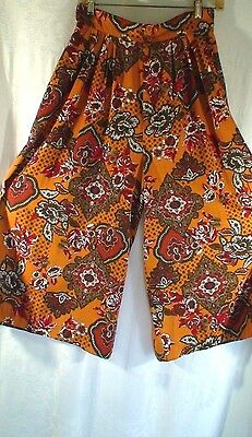 Vintage 70's SweetBriar Boho Hippy Chic Culottes Gauchos Women's Size 12