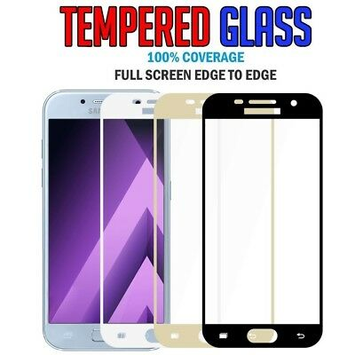 Full Coverage Tempered Glass Screen Protector For Samsung Galaxy A5 A7 2017