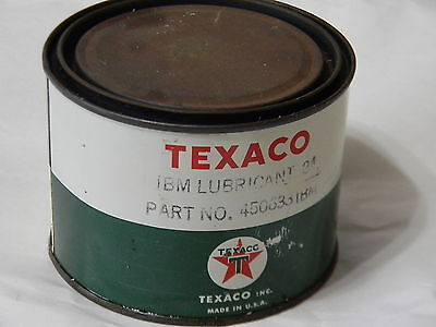 Texaco IBM Lubericant Tin -24 Part No. 450635IBM  Net Wt 1 lb