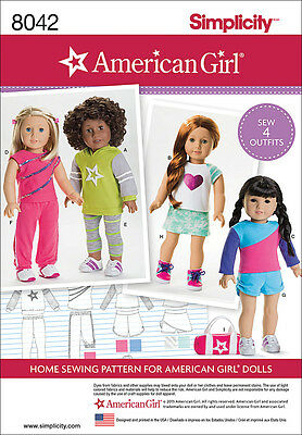 Simplicity American Girl Doll Clothes For 18 Doll One Size *PATTERN* US8042OS