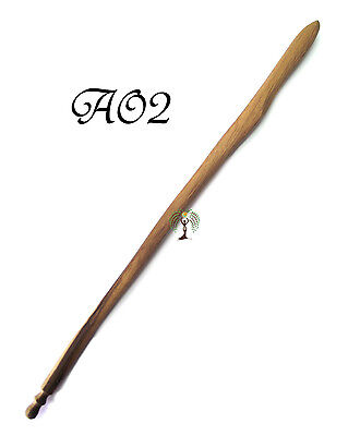 Handmade 40cm Carved Oak Wand OA2 Wooden Wiccan Witch Pagan Spell Wood