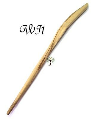 Handmade 39cm Carved Willow Wand WI1 Wooden Wiccan Witch Pagan Spell Wood