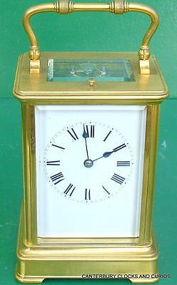 Antique French Silvered Dial Couillet Striking Repeater 8 Day Carriage Clock