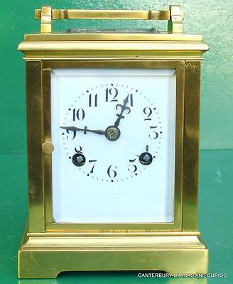 Japy Freres Solid Brass Antique French Two Train 8 Day Carriage Clock