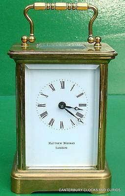 Matthew Norman Vintage 8 Day Swiss Carriage Clock Serviced