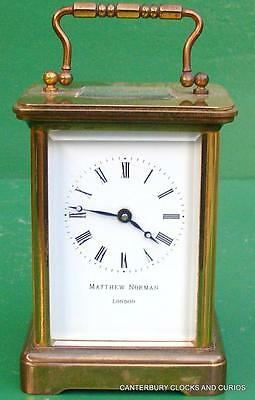 Matthew Norman Vintage 8 Day Swiss Carriage Clock Serviced 2