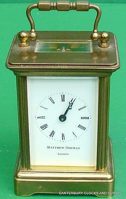 Matthew Norman Vintage 8 Day Swiss Carriage Clock Serviced 3