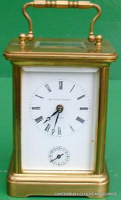 Matthew Norman Vintage 8 Day Alarm Swiss Carriage Clock Serviced