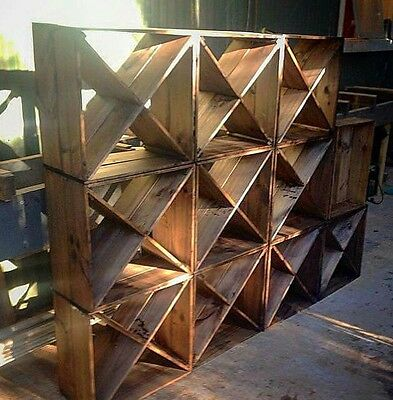 Wine rack cube recycled timber shoe storage