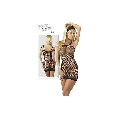 Netzkleid mit 3er Tr?ger S-L completo intimo corsetto guepiere donna lingerie fe