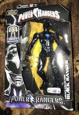 2017 Power Rangers Movie Black Ranger Action Figure Toys R Us Excl Legacy Coll