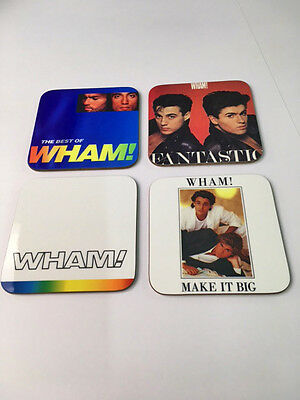 Wham George Michael Album Cover Drinks COASTER Set