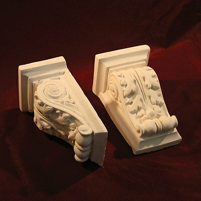 Corbels - Traditional Plaster. Decorative. Height 165mm, Victorian - Pair