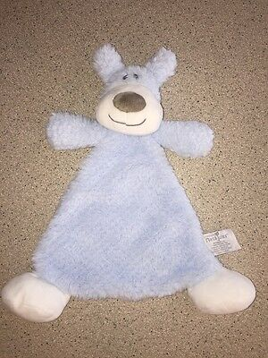 Nat and Jules Baby Lovey Rattle Blankie Blue Puppy Dog