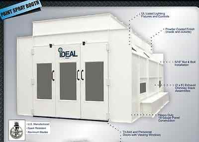 PSB-SDD26H IDEAL Heated Side Down Draft Paint Spray Booth