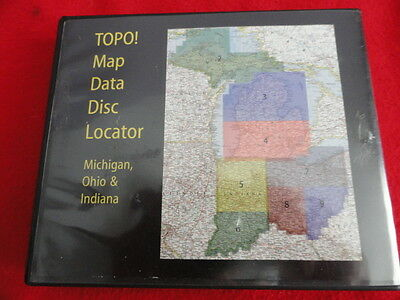 National Geographic TOPO! Michigan, Ohio & Indiana 9 CD Set Topographic Maps