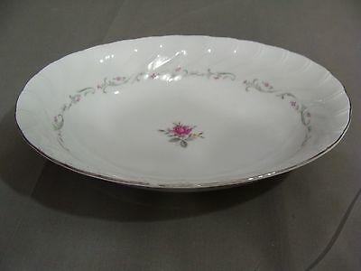 Royal Swirl Fine China Of Japan Oval Serving Bowl In The Pink Rose Pattern