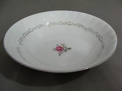 Royal Swirl Fine China Of Japan Round Serving Bowl In The Pink Rose Pattern