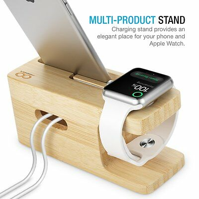 Apple Watch Series 1 2 Stand, Maxboost Apple Watch Wood Charging Stand Docking