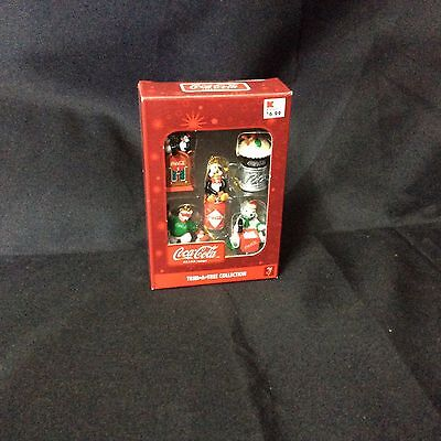 New Coca-Cola Trim-A-Tree Collection Christmas Holiday Ornament Set of 5